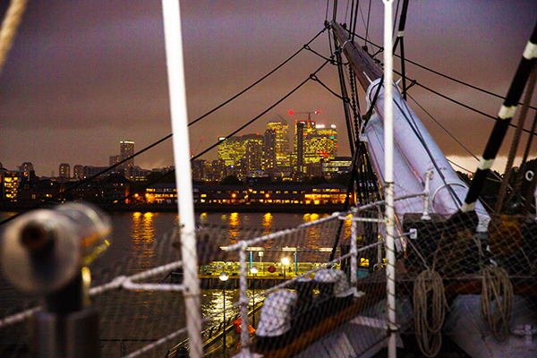 view from the Cutty Sark